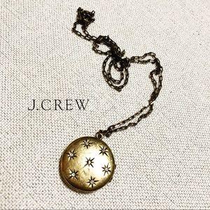 J. Crew Starry Night Pendant Locket Necklace